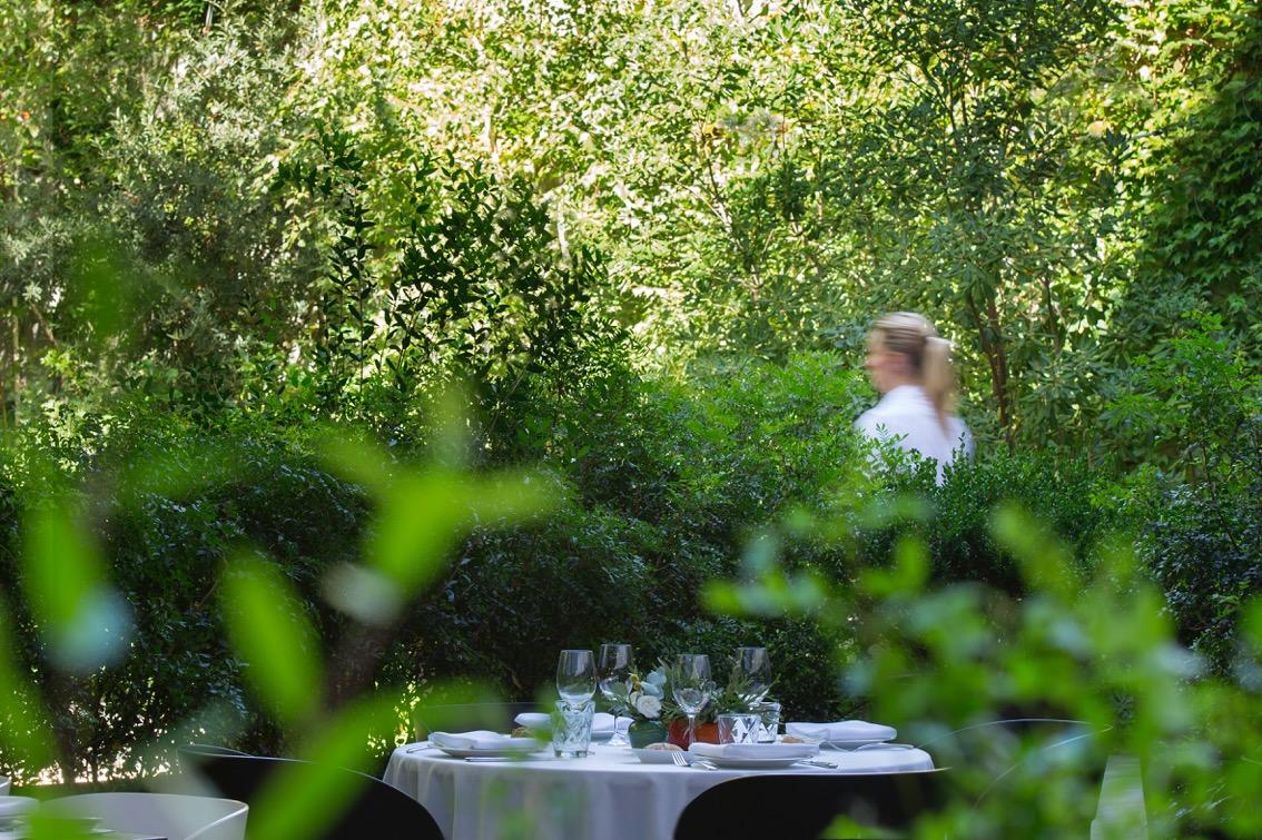 Restaurante jardín del Alma exterior