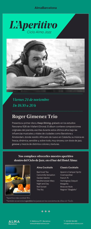 Alma Jazz - Roger Giménez Trio